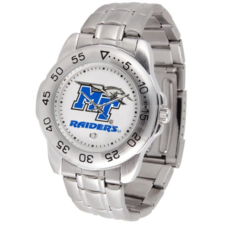 """Middle Tennessee State Blue Raiders NCAA """"Sport"""" Mens Watch (Metal Band)"""