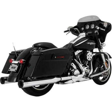 Vance & Hines 16708 Eliminator 400 Slip-Ons - Chrome with Black End