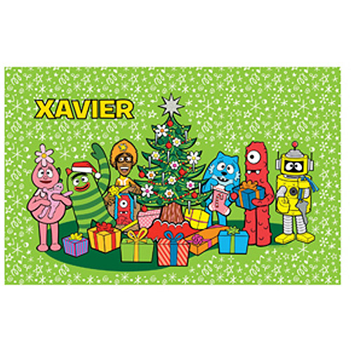 Personalized Yo Gabba Gabba! Christmas Time Placemat