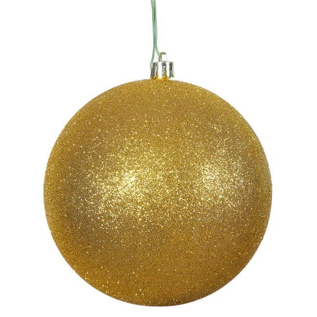 Vickerman N593030DG Antique Gold Glitter Drilled Cap Ball Ornament, 12 in. - image 1 de 1