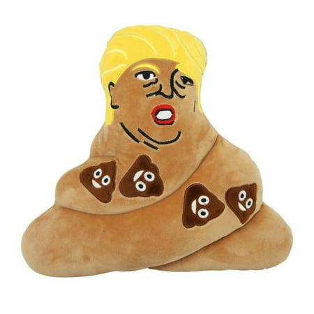 EMOTICON EMOJI BROWN POOP TRIANGLE CUSHION PILLOW STUFFED PLUSH TOY TRUMP - Toy Poop