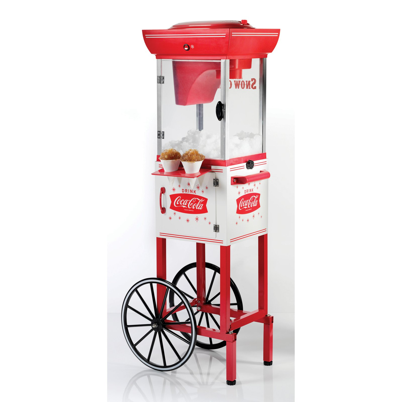 Nostalgia SCC399COKE Coca-Cola Snow Cone Cart - 48 Inches Tall