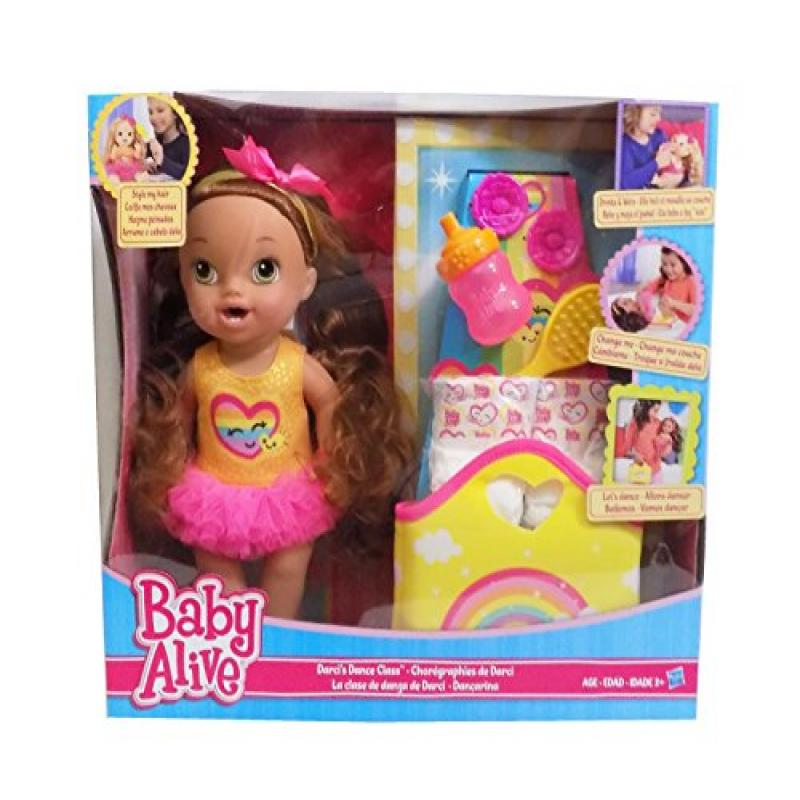 Hasbro Baby Alive Darcis Dance Class Brown Hair Doll