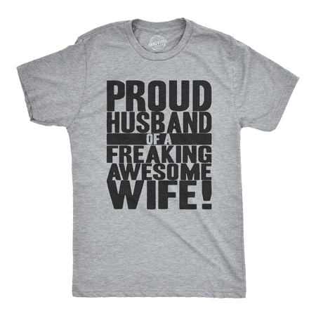 Mens Proud Husband of a Freaking Awesome Wife Funny Valentines Day T - Funny Husband And Wife Halloween Costumes