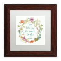 Trademark Fine Art 'Rainbow Seeds Wreath I' Matted Framed Art by Lisa Audit