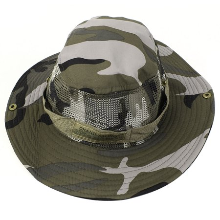 Man press stud detail camouflage pattern fishing hiking for Fishing hats walmart