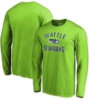 Seattle Seahawks NFL Pro Line by Fanatics Branded Victory Arch Long Sleeve T-Shirt - Neon Green