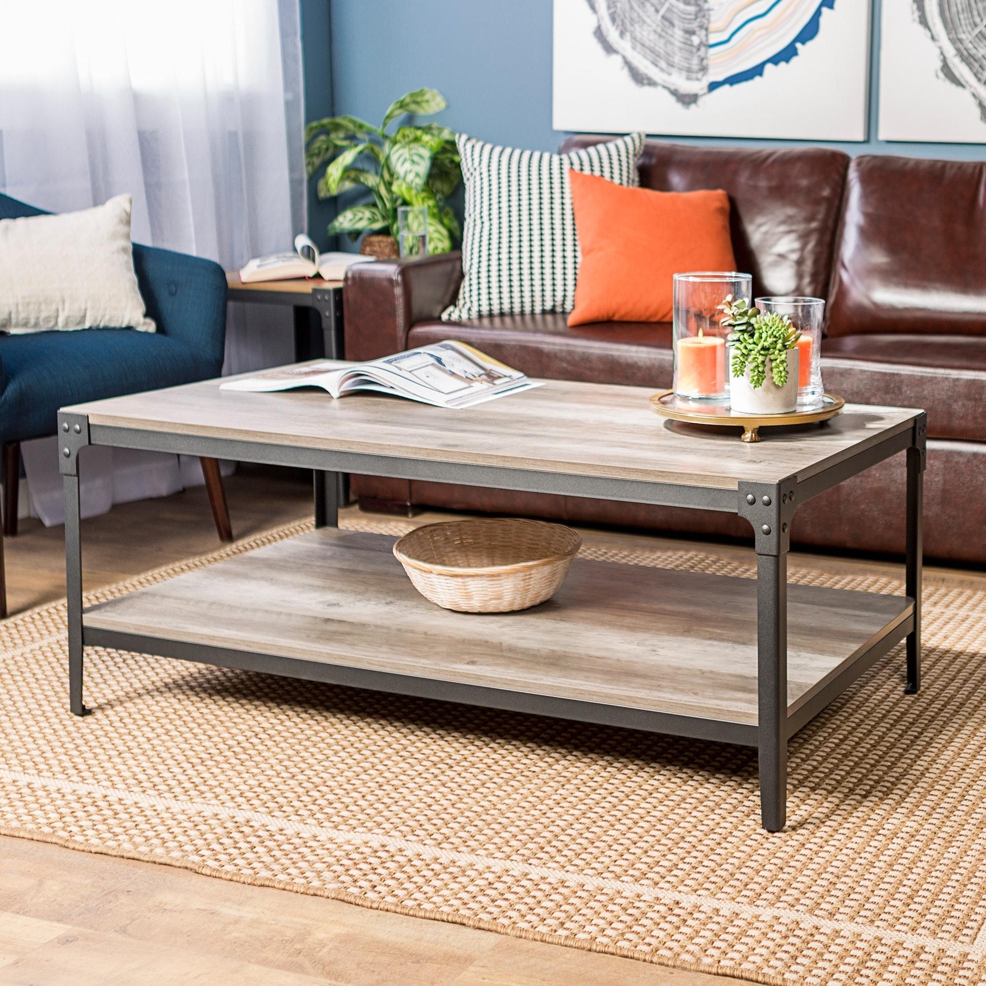 48-inch Rustic Angle Iron Coffee Table