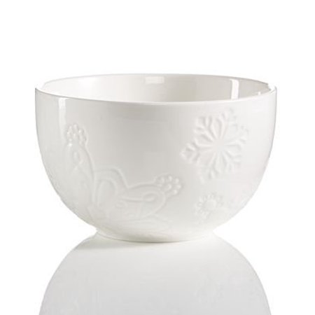 Martha Stewart Collection Embossed Cereal Bowl - Halloween Ghost Cupcakes Martha Stewart