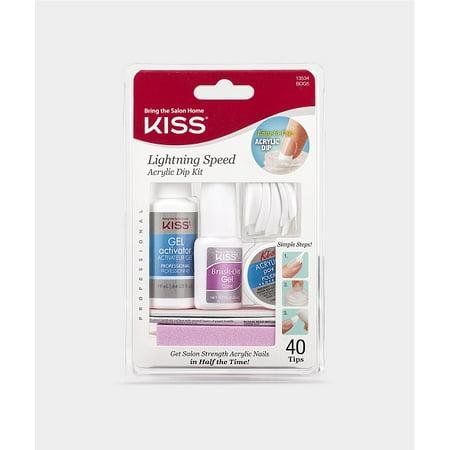 Kiss lightning speed salon dip powder manicure kit 1 for Acrylic nails walmart salon