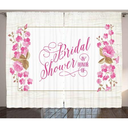 Bridal Shower Decorations Curtains 2 Panels Set, Bride Party Card ...