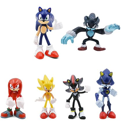 6 Pcs Figure Set For Sonic The Hedgehog Inspired Birthday