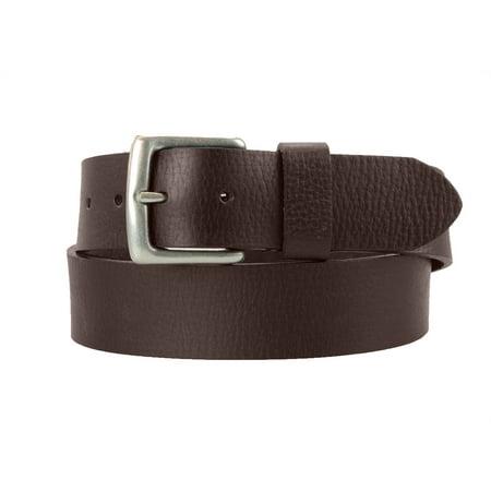 Montauk Leather Club 1-1/2 in. US Steer Hide Leather Pebble Grain Belt with Antq. Nickel Buckle