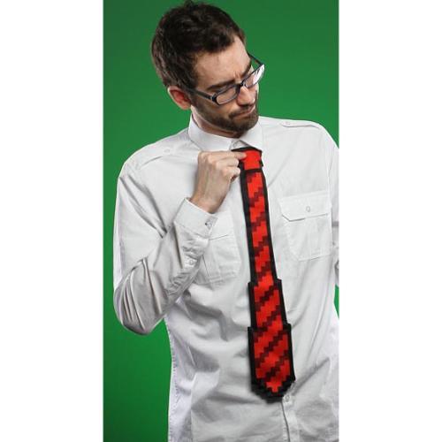 """Think Geek 8 Bit 20"""" Tie Red"""