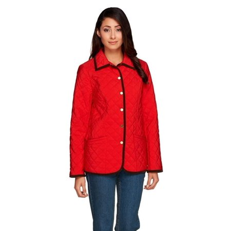 Joan Rivers Quilted Barn Jacket Corduroy A255184 Walmart
