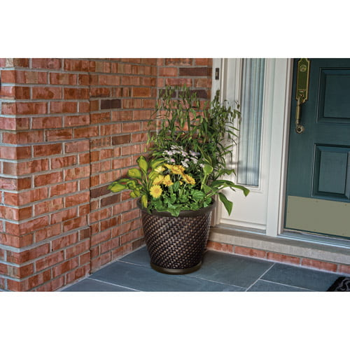 Better Homes And Gardens 18 Planter Brown By Suncast At
