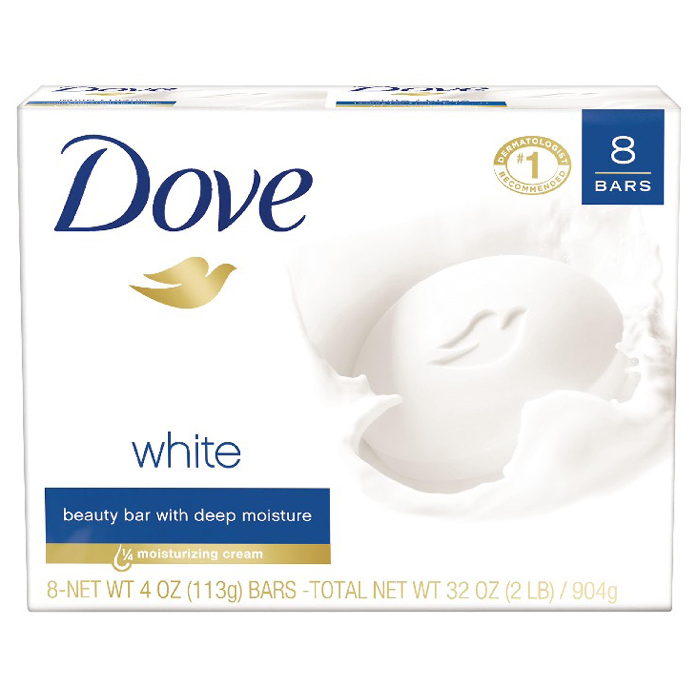 Dove White Beauty Bar, 4 oz, 8 Bar