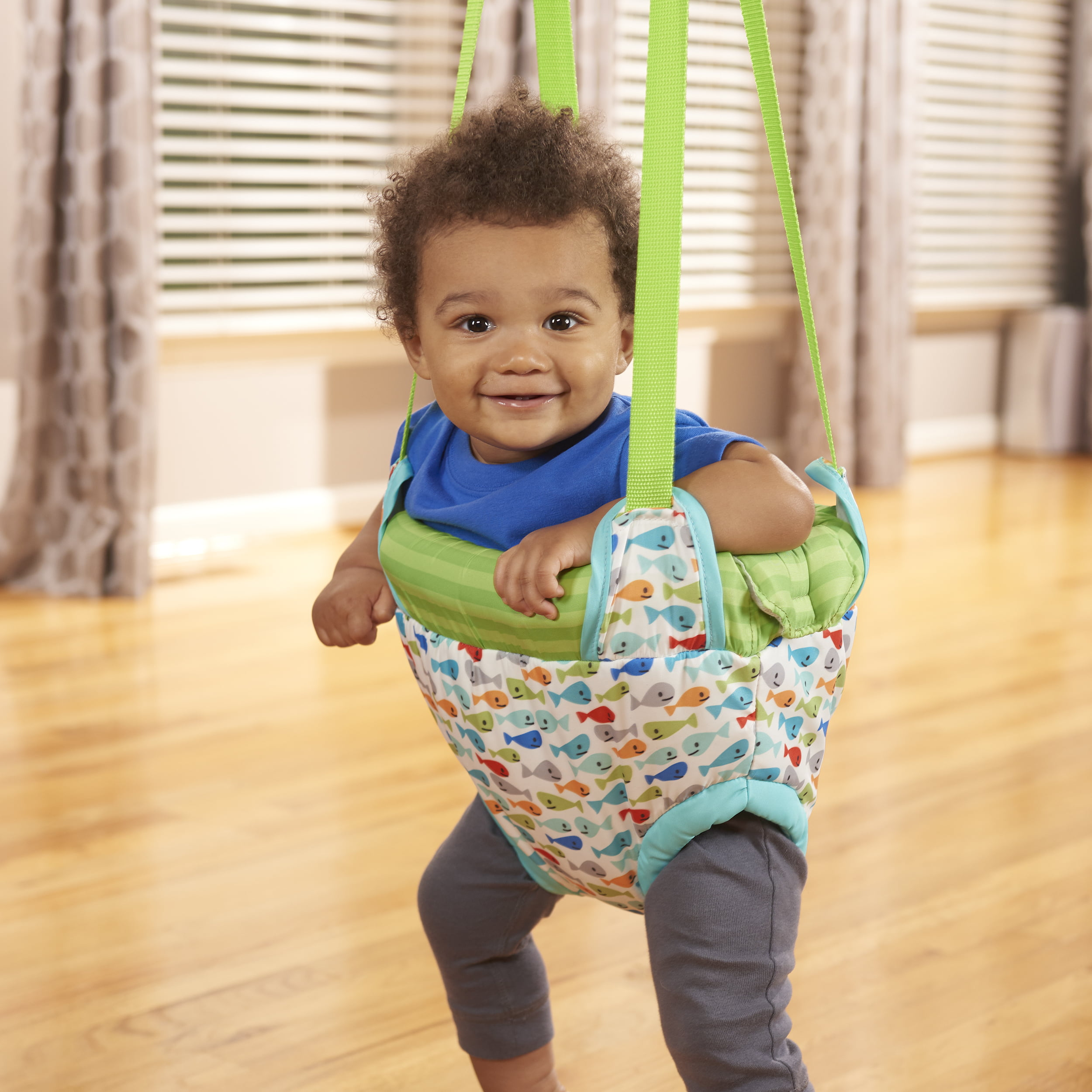 Evenflo Exersaucer Doorway Jumper Gone Fishin Walmart Com