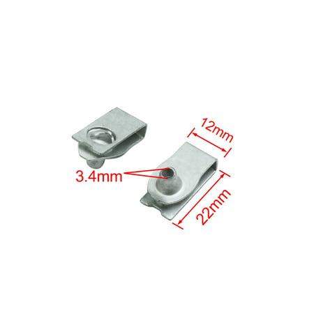 4pcs Metal Screw Fastener Automotive Bumper Fender Trim Panel Fixed Rivets Clips - image 1 de 3
