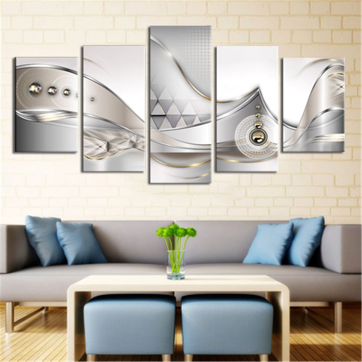 Unframed/Framed Giclee Canvas Prints 5 panels Modern Artwork Pictures to Photo Printed on & Unframed/Framed Giclee Canvas Prints 5 panels Modern Artwork ...