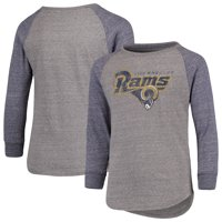 ecdb0be24 Product Image Los Angeles Rams NFL Pro Line by Fanatics Branded Youth Tri- Blend Raglan Long Sleeve