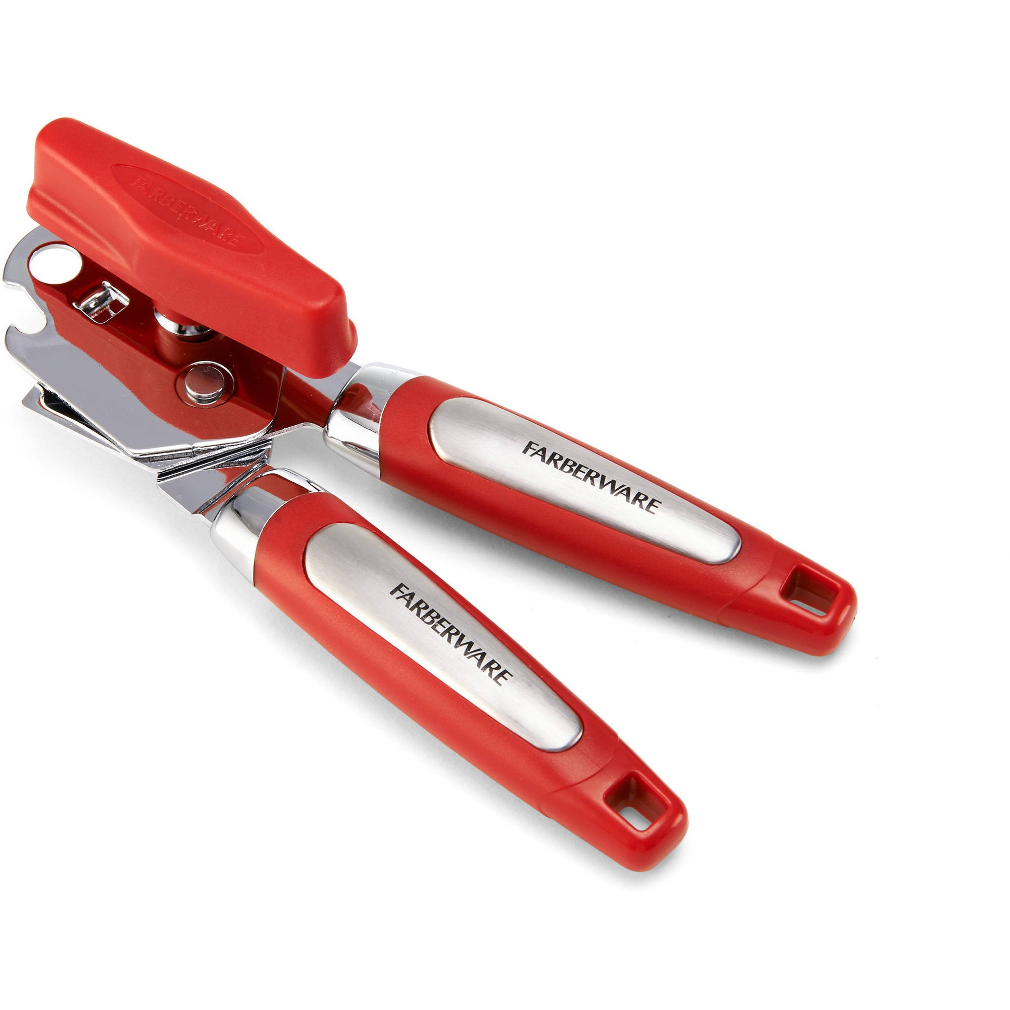 Farberware Professional Chrome Head Red Handle Can Opener