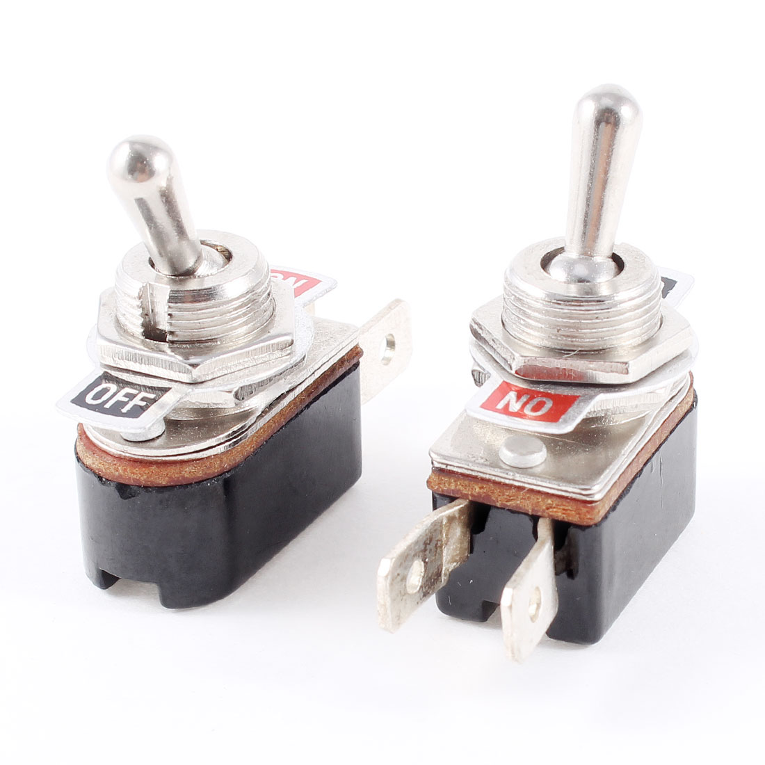 AC 6A/125V 3A/250V 2 Terminal SPST ON-OFF 2 Position Toggle Switch 2 Pcs - image 1 de 1