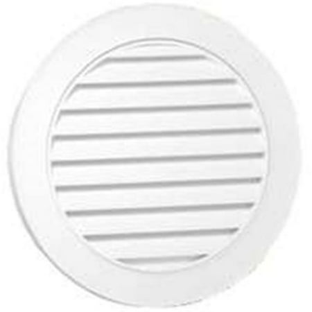 Canplas 626055-00 White Vinyl Round Gable Vent, 22 in. D, 55 sq-in.