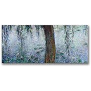 "Trademark Fine Art ""Waterlillies, Morning III"" Canvas Wall Art by Claude Monet"
