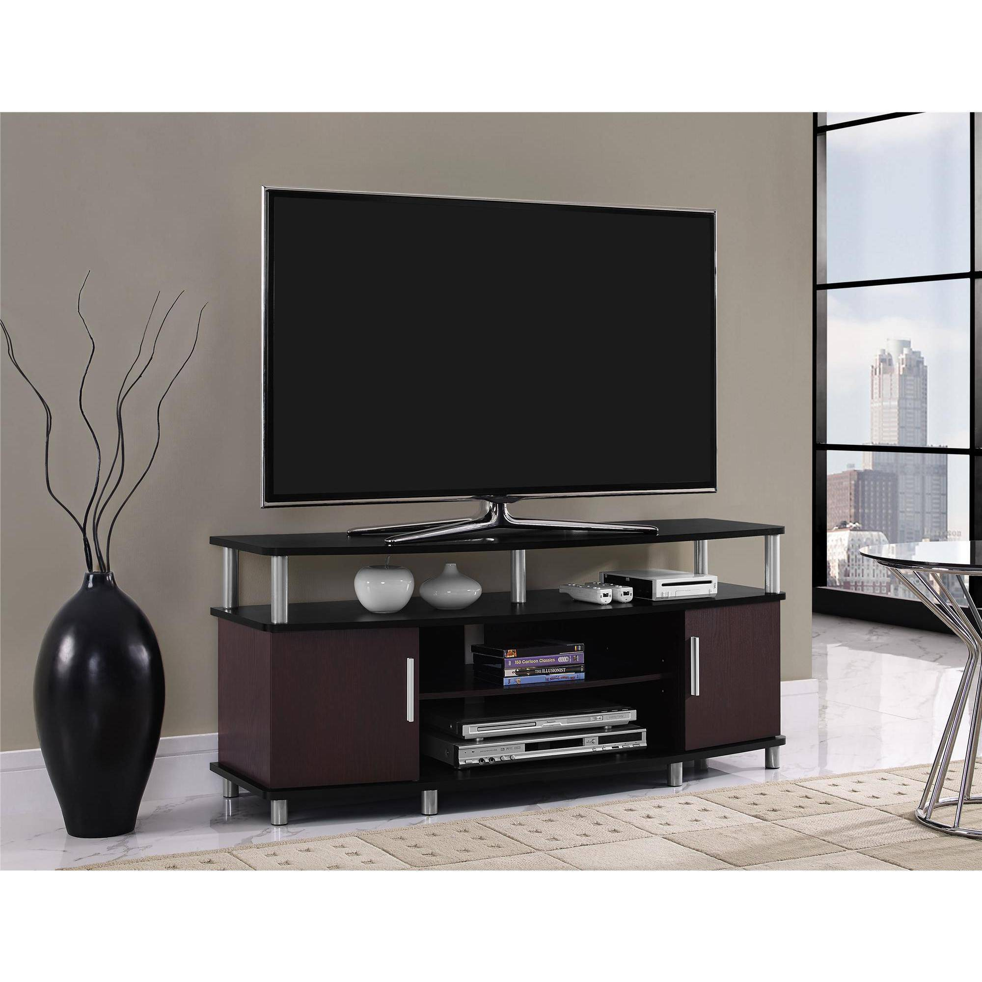 carson tv stand for tvs up to 50 multiple finishes walmartcom - Tv Stands Entertainment Centers