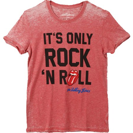 bf315c7e Rolling Stones - Rolling Stones Men's It's Only Rock 'N Roll Vintage T-shirt  Red/Blue - Walmart.com