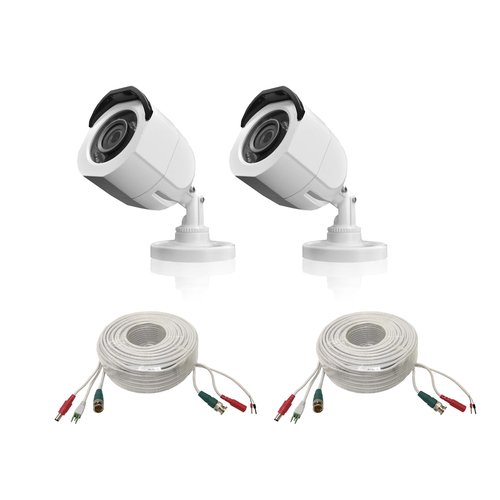LaView Two 720P 1.3MP Camera Pack High Definition HD TVI analog White with Cable