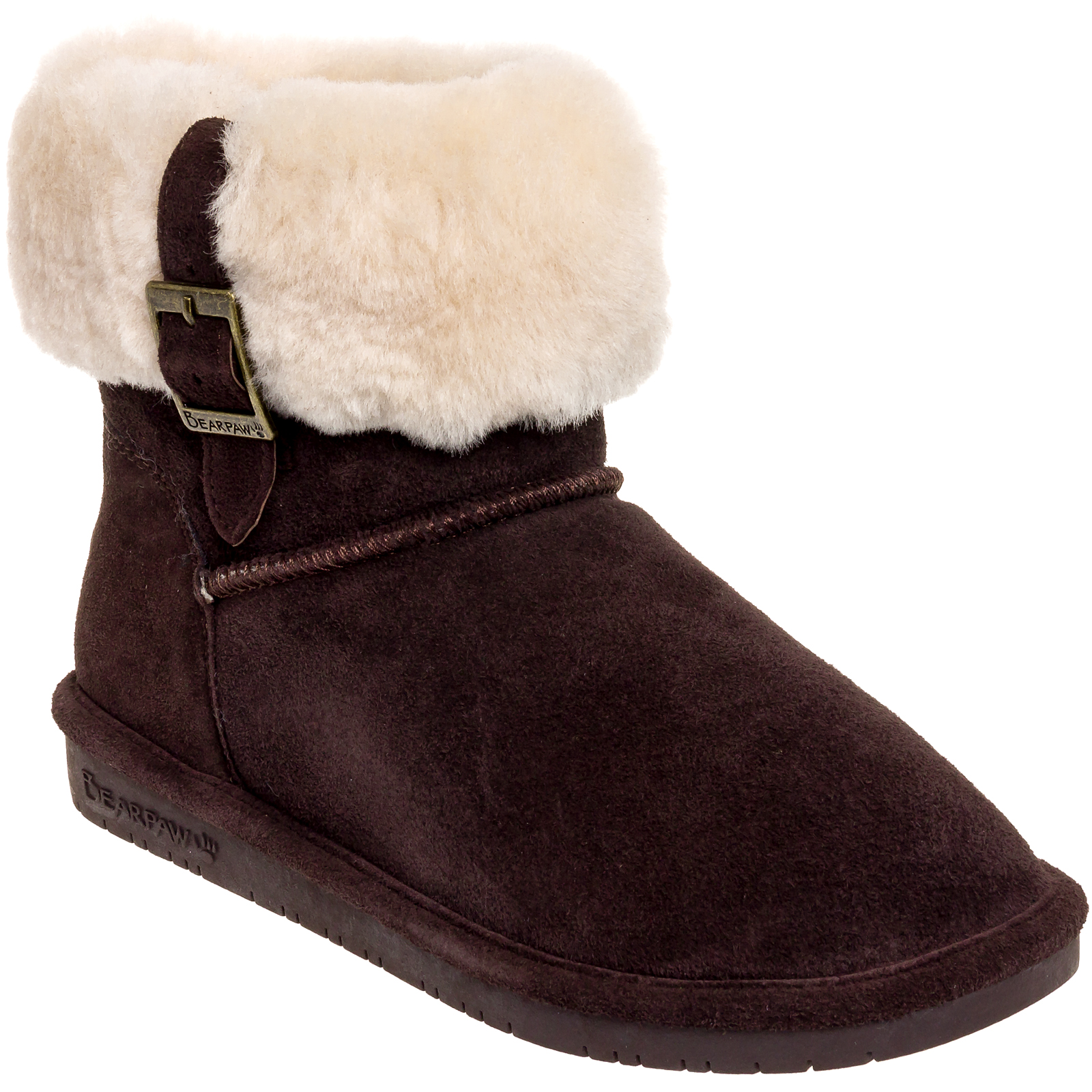 Bearpaw Women's Suede Wool Lined Abby Slip On Winter Ankl...