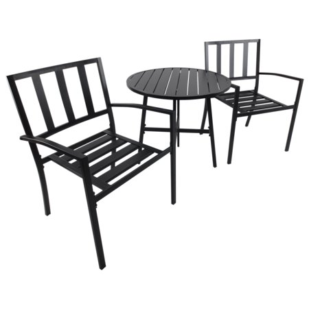 Outsunny 3pcs Bistro Set Table Chair Set Patio Outdoor Garden Furniture ()