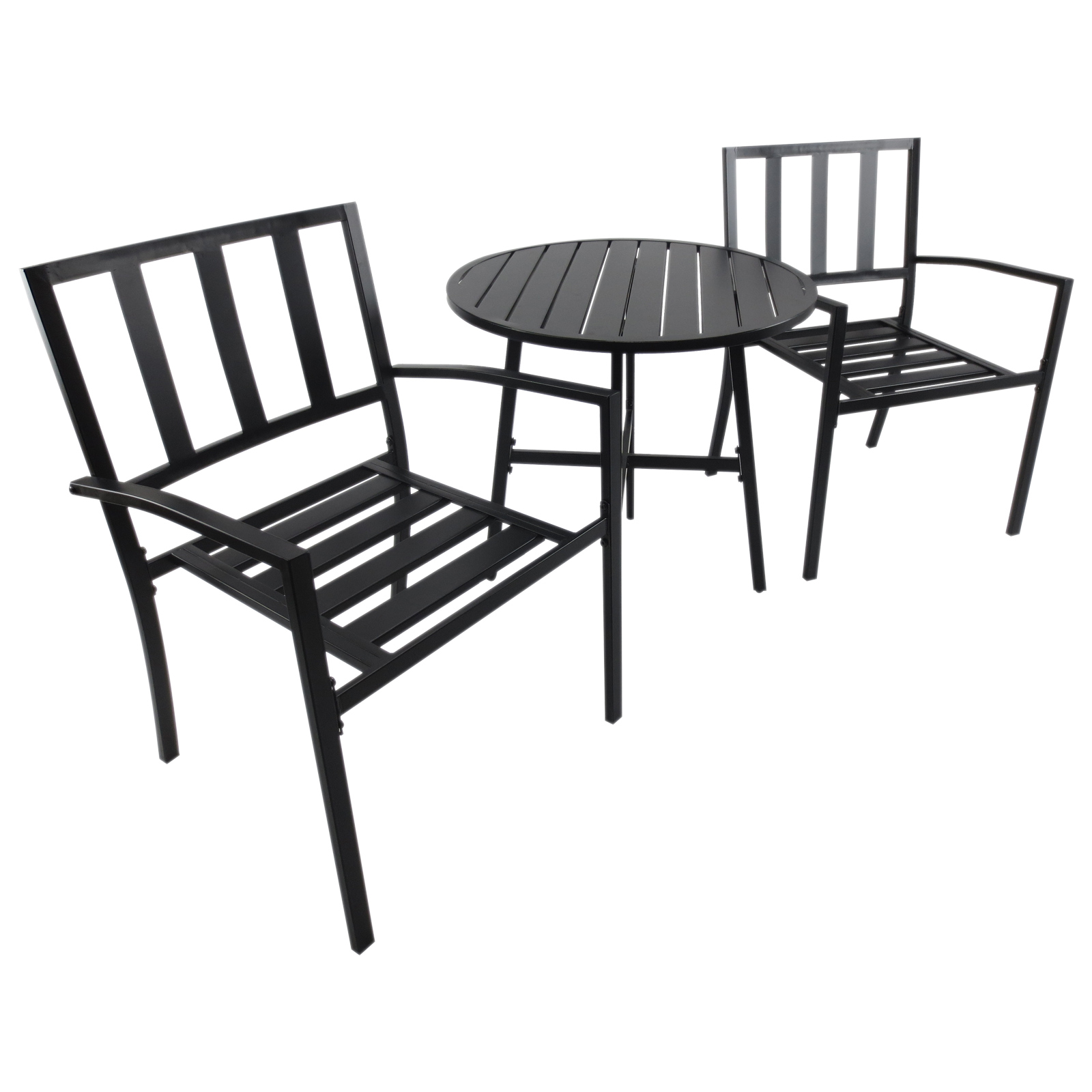 Outsunny 3pcs Bistro Set Table Chair Set Patio Outdoor Garden Furniture