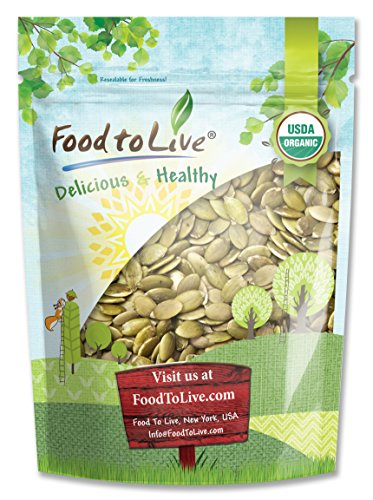 Organic Pumpkin Seeds, 2 Pounds – Kosher, Non-GMO, Organic Kernels, Raw Pepitas, Sproutable, Vegan – by Food to Live
