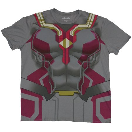 Avengers (Marvel Comics) Mens T-Shirt - Vision Age of Ultron Costume Front