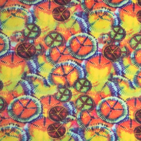 Bright Tie Dye Print Anti-Pill Fleece Fabric Roll (Bright Fleece)