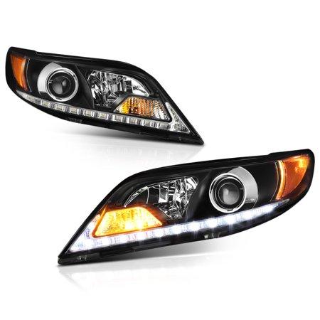 [For 2011-2017 Toyota Sienna Halogen Model] LED Strip Projector Headlight Headlamp Assembly, Driver & Passenger Side