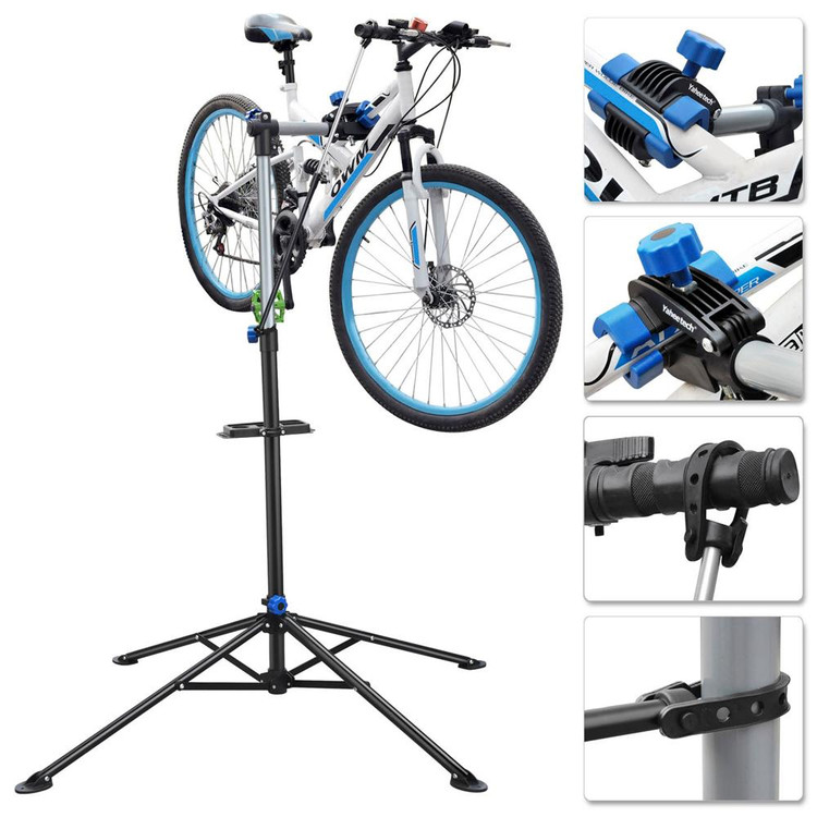 "Bike Adjustable 41'' to 68"" Repair Stand with Telescopic Arm Cycle Bicycle Rack"