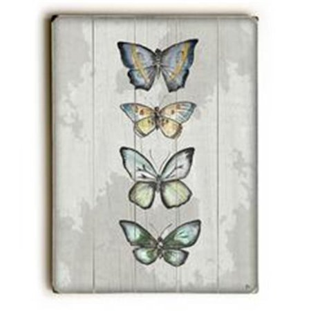 One Bella Casa 0009 7470 25 9 X 12 In  World Of Butterflies Solid Gray Wood Wall Decor By Jennifer Rizzo Design