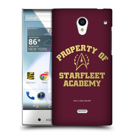 Official Star Trek Starfleet Academy Logos Hard Back Case For Sharp Phones