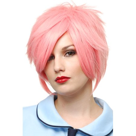 Adult Womens Pink Hot Strawberry Blonde Costume Anime Wig