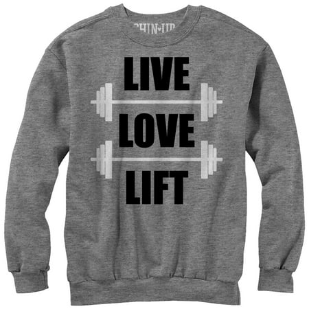 Chin Up Women's Live Love Lift Sweatshirt](Domo Suit)
