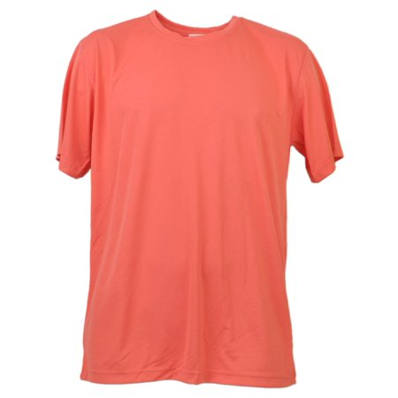 Coral Dry Fit Tshirt Tee Mens Adult Short Sleeve Plain Blank Crew Neck Solid XL