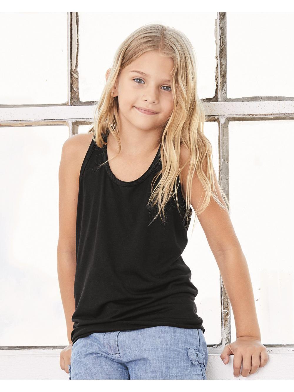 Bella + Canvas T-Shirts Youth Flowy RacerbackTank