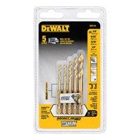 DeWalt Impact Ready 5 Piece Titanium Drill Bit Set, DD5155