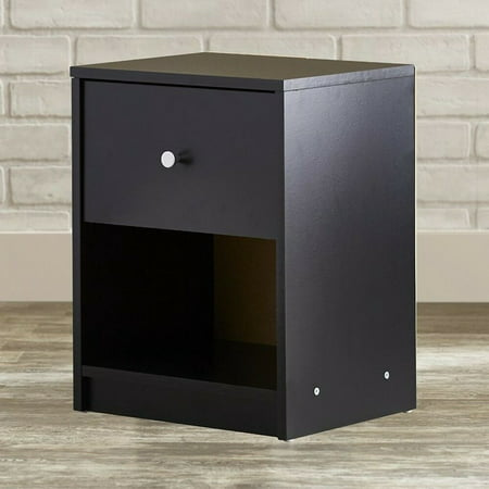 FCH UBesGoo Black Nightstand End Table Cabinets Bedroom Best Furniture Bedside