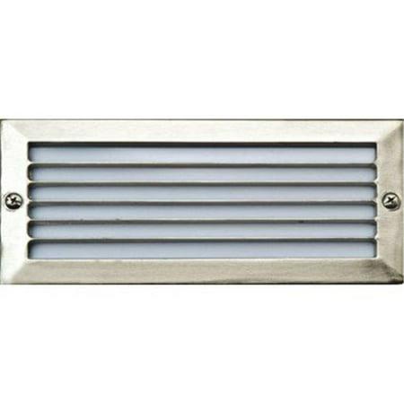 Dabmar Lighting LV-LED601-SS304 2 x 2.5W & 12V JC-LED 30 LEDs 304 Stainless Steel Louvered Step Light - image 1 of 1