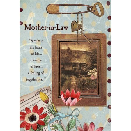 Designer Greetings Picture Hanging from Safety Pin Mother-in-Law Mother's Day (Happy Birthday Greetings To Mother In Law)